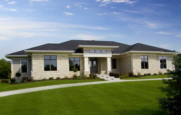 Contemporary Style Home Design Plan: 7-1367