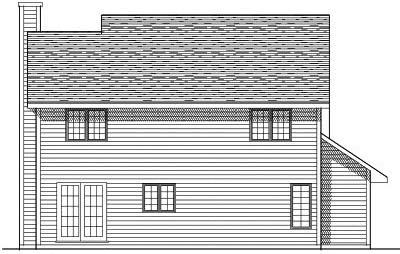 Rear Elevation Plan: 7-138
