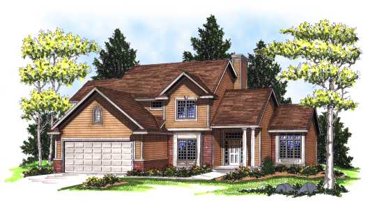 Traditional Style Home Design Plan: 7-139