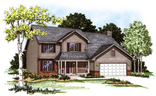 Country Style Floor Plans Plan: 7-141