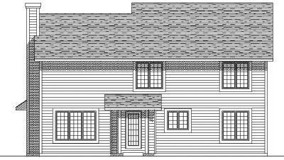 Rear Elevation Plan: 7-141