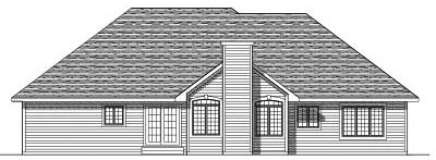 Rear Elevation Plan: 7-142