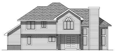Rear Elevation Plan: 7-146