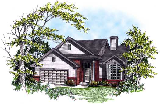 Traditional Style Home Design Plan: 7-147