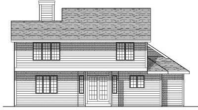 Rear Elevation Plan: 7-147