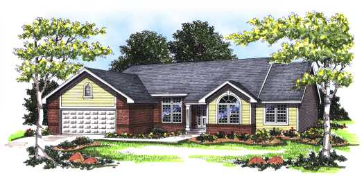 Ranch Style Floor Plans Plan: 7-148