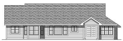 Rear Elevation Plan: 7-148