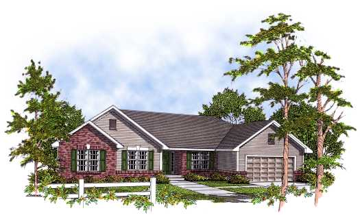 Ranch Style Home Design Plan: 7-150