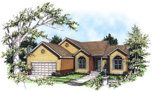 Traditional Style Home Design Plan: 7-151