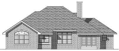 Rear Elevation Plan: 7-152