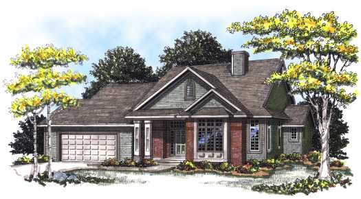 Traditional Style Home Design Plan: 7-153