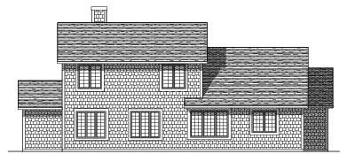 Rear Elevation Plan: 7-153