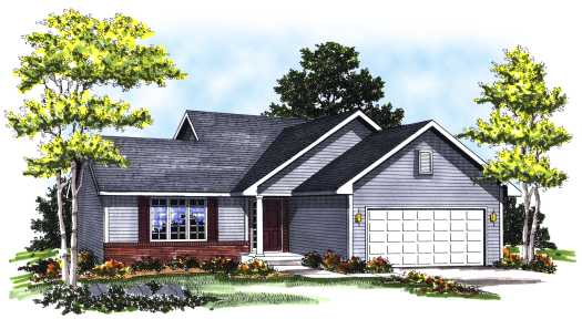 Ranch Style House Plans Plan: 7-154