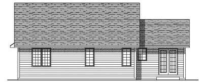 Rear Elevation Plan: 7-154