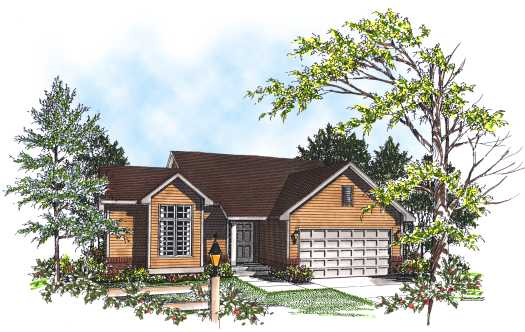 Traditional Style Floor Plans 7-155