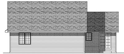 Rear Elevation Plan: 7-155