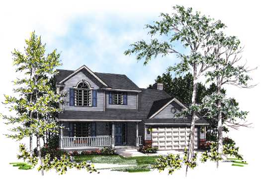 Country Style Floor Plans Plan: 7-156