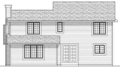 Rear Elevation Plan: 7-156