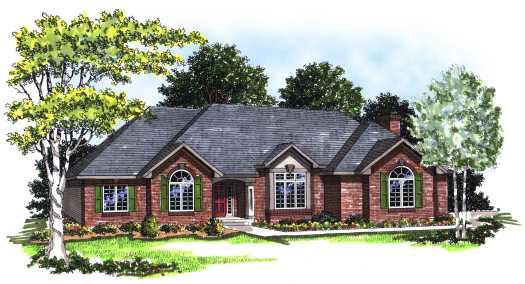 European Style Home Design Plan: 7-158