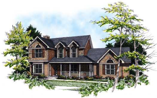 Farm Style Home Design Plan: 7-159