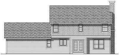 Rear Elevation Plan: 7-159