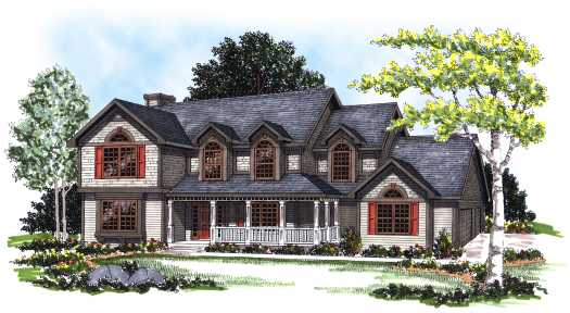 Country Style Floor Plans 7-160
