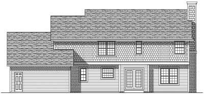 Rear Elevation Plan: 7-160