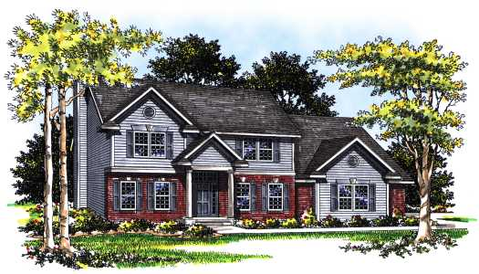 Traditional Style Home Design Plan: 7-161