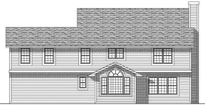 Rear Elevation Plan: 7-161