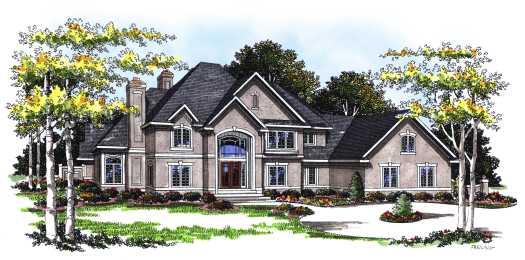 European Style House Plans Plan: 7-162
