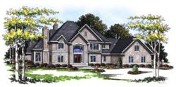European Style Home Design Plan: 7-162