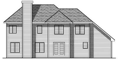 Rear Elevation Plan: 7-164