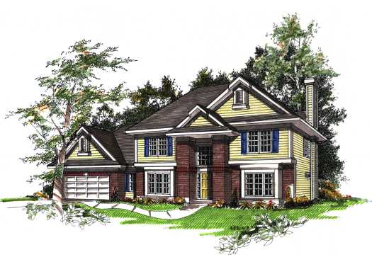 Traditional Style Floor Plans Plan: 7-165