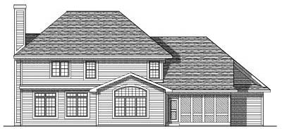 Rear Elevation Plan: 7-165