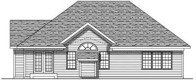 Rear Elevation Plan: 7-167