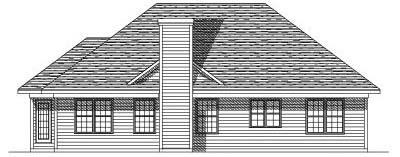 Rear Elevation Plan: 7-168