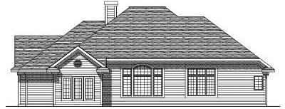 Rear Elevation Plan: 7-170