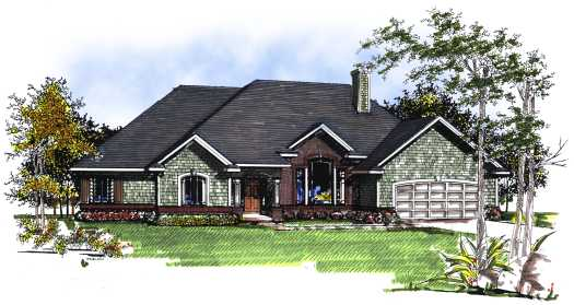Traditional Style Home Design Plan: 7-171