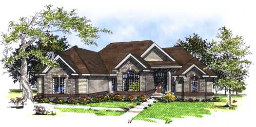 Traditional Style Home Design Plan: 7-172