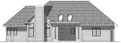 Rear Elevation Plan: 7-172