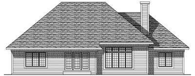 Rear Elevation Plan: 7-173