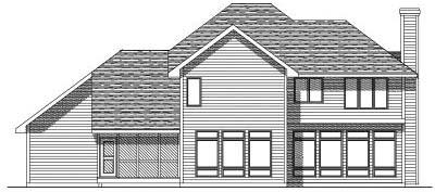 Rear Elevation Plan: 7-174