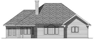 Rear Elevation Plan: 7-175