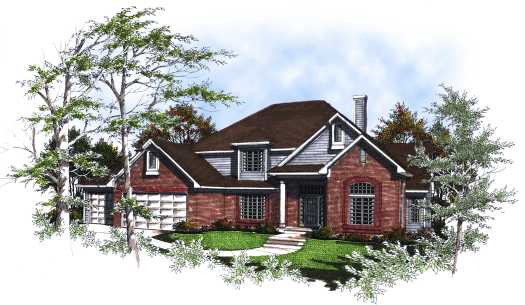 Traditional Style Home Design Plan: 7-176