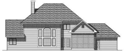 Rear Elevation Plan: 7-176