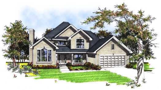 Traditional Style House Plans Plan: 7-177