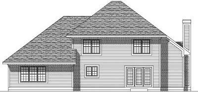 Rear Elevation Plan: 7-177