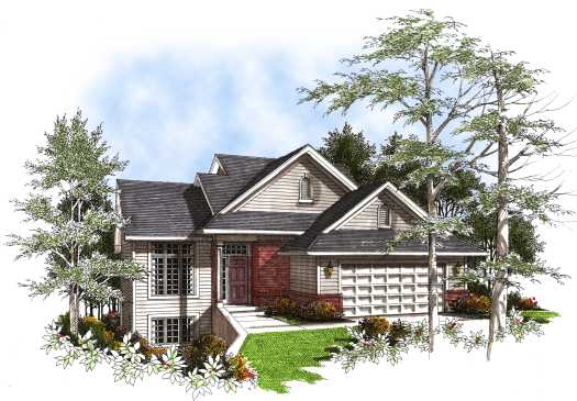 Traditional Style Home Design Plan: 7-178
