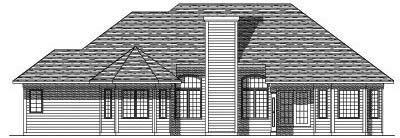 Rear Elevation Plan: 7-180