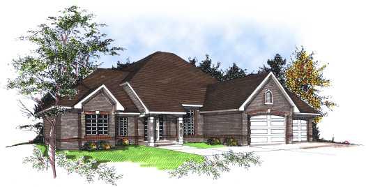 European Style Home Design Plan: 7-182